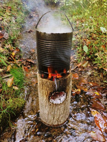 One Log Rocket Stove 101 Ways To Survive