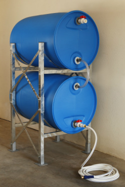 DIY Horizontal Storage of 55 gal Water Barrels 101 Ways to Survive