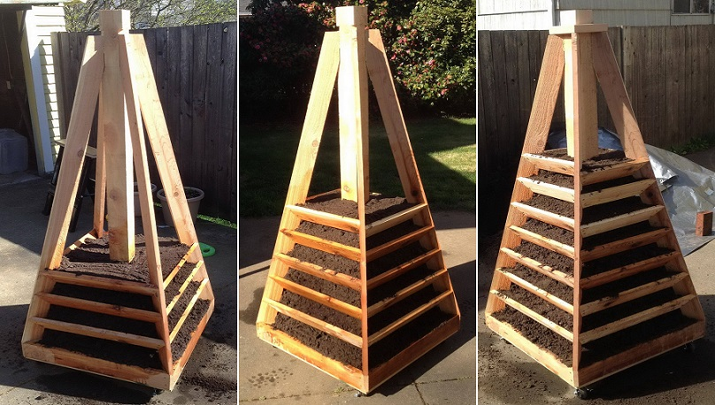 Vertical-Pyramid-Garden-Planter-DIY-07