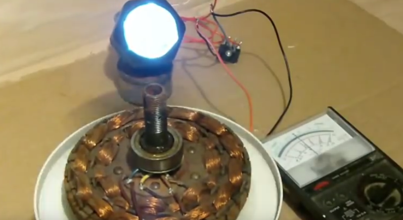 Water Powered Ceiling Fan : Ceiling fan to wind generator conversion demo ways